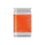 Drawing can soda orange sticker Royalty Free Stock Image