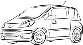 Drawing of the car Royalty Free Stock Image