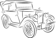 Drawing of the car Stock Photography