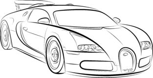 Drawing of the car Royalty Free Stock Photos
