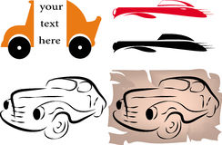 Drawing car design. Color Stock Images