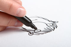 Drawing caricature Stock Photography