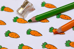Drawing with carrots Royalty Free Stock Image