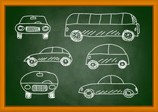 Drawing of cars Royalty Free Stock Photo