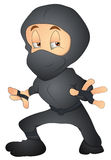 Japanese Ninja - Cartoon Character - Vector Illustration Royalty Free Stock Photo