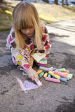 Drawing with chalk Royalty Free Stock Image