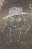 Drawing with chalk on asphalt Royalty Free Stock Images