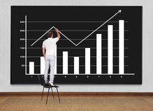 Drawing chart Royalty Free Stock Images