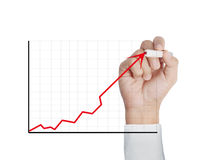Drawing a chart show Royalty Free Stock Image
