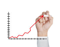 Drawing a chart show Stock Photos