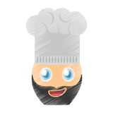 drawing chef emoticon image Stock Image