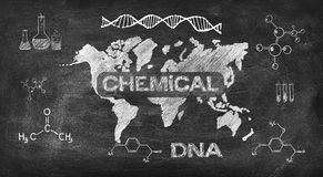 Drawing chemical concept Royalty Free Stock Image