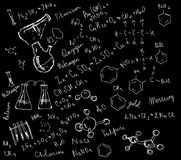 Drawing the chemical theme Stock Photo