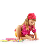 Drawing child Royalty Free Stock Photography