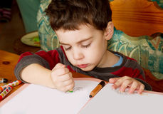 Drawing child Stock Image