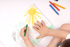 Drawing children Stock Images
