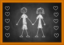 Drawing of children Royalty Free Stock Images