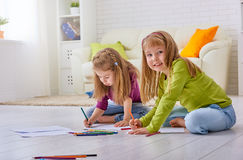Drawing children Royalty Free Stock Image