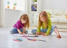 Drawing children Stock Photos