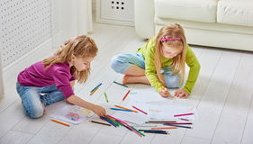Drawing children royalty free stock photos