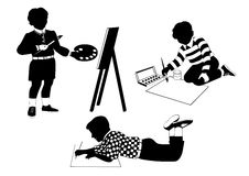 Drawing children Royalty Free Stock Photography