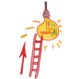 Drawing Children Watercolor Staircase, Cartoon Royalty Free Stock Photo