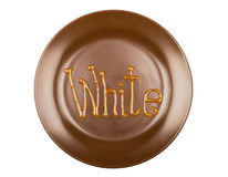 Drawing chocolate on a plate Royalty Free Stock Images