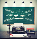 Drawing choose between career and family Royalty Free Stock Photography