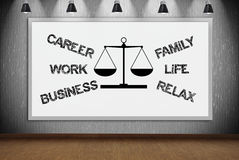 Drawing choose between career and family Stock Image