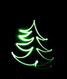 Drawing Christmas tree Stock Images