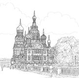 Sketch of the temple Stock Photo
