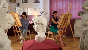 Drawing class for adults stock video