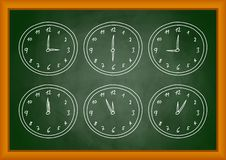Drawing of clock Royalty Free Stock Photography
