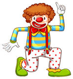 A drawing of a clown dancing Royalty Free Stock Photography