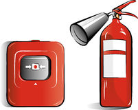 Drawing of the co2 fire extinguisher Royalty Free Stock Photography