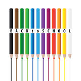 Drawing color pencils Royalty Free Stock Photo