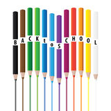 Drawing color pencils Royalty Free Stock Photography