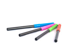 Drawing color pens Royalty Free Stock Image