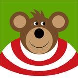 Drawing - colored smiling cartoon bear Stock Photos