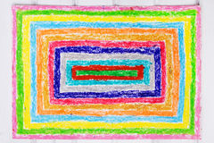 Drawing: colorful rectangles. Hand drawing: colorful rectangles. Top view vector illustration