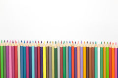Drawing colors pencils on white background Stock Photo