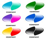 Drawing company logo in different colors. stock illustration
