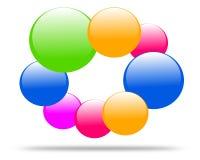 Drawing company logo molecule. vector illustration