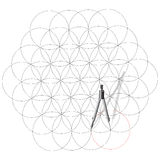 Drawing compass draw a circles. Stock Photography