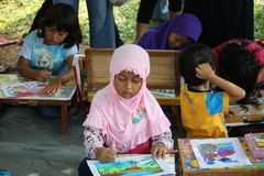 Drawing competition for children Stock Image