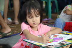 Drawing competition for children Royalty Free Stock Photography