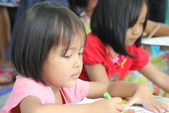 Drawing competition for children Stock Photography