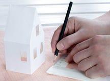 Drawing construction plan Stock Photos