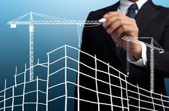 drawing construction site Royalty Free Stock Photos