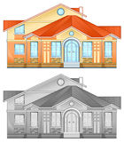 Drawing of country residence vector illustration